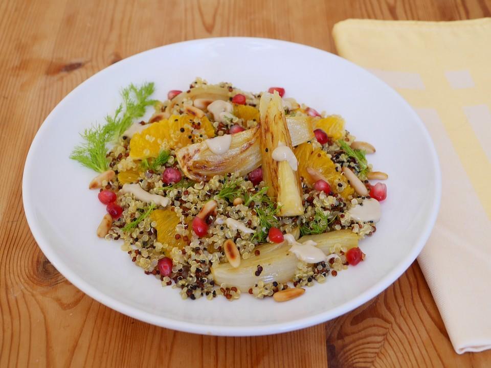 quinoa salat mit fenchel und orangen von ars vivendi. Black Bedroom Furniture Sets. Home Design Ideas