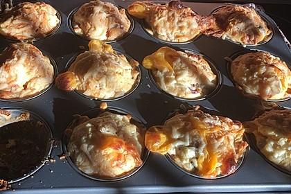 Schnelle Schinken-Champignon-Muffins