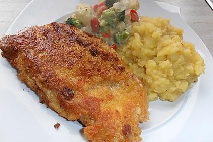 Seelachsfilet mit Speck und Kartoffel-Erbsen-Püree 6