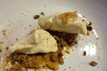 Bananensorbet mit Dulce de Leche und Schokoladenerde