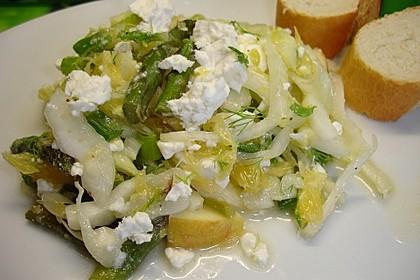 Salat mit grünem Spargel, Fenchel und Orange 2