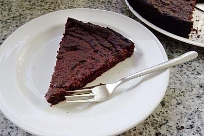Vegane Brownies ohne Zucker, glutenfrei
