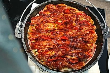 Schichtfleisch aus dem Dutch Oven 2
