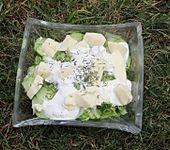 Cremiger Gurkensalat mit Feta und Sauerrahm