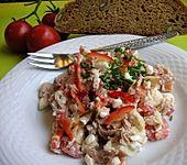 Thunfisch-Hüttenkäse-Salat