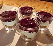Heidelbeer-Spekulatius-Dessert