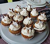 Zimtstern-Cupcakes (Bild)
