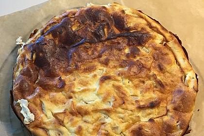Bodenloser low carb Käsekuchen mit Äpfeln 4