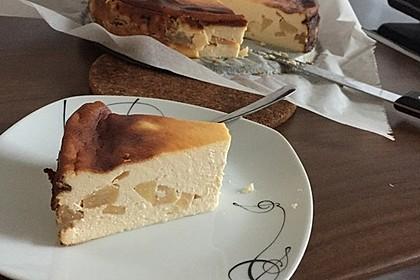 Bodenloser low carb Käsekuchen mit Äpfeln 6