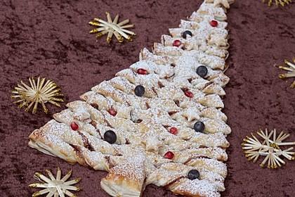 Blätterteig-Weihnachtsbaum (Bild)