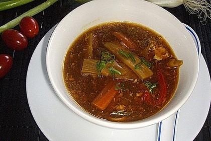 vegetarische chinesische s sauer scharfe suppe rezept mit bild. Black Bedroom Furniture Sets. Home Design Ideas