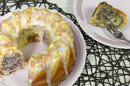 Marmorkuchen mit Zitrone und Mohn 1