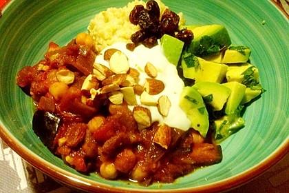 Vegane Marokkanische Bowl