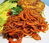 Scharfe Möhren-Nudeln mit Parmesan - Low Carb (Bild)