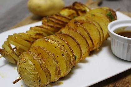 Spiralförmige Kartoffeln aus dem Ofen