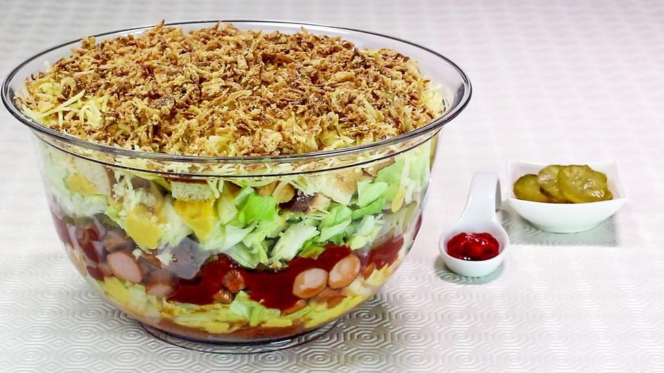 hot dog salat rezept mit bild von esslust. Black Bedroom Furniture Sets. Home Design Ideas