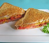 Gebackenes Kasseler-Sandwich