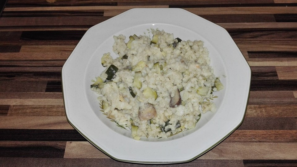 zucchini risotto mit pilzen rezept mit bild von sturmhexe. Black Bedroom Furniture Sets. Home Design Ideas