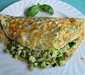 Mozzarella-Basilikum-Pfannkuchen