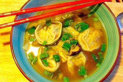 Vegane Wantan-Suppe