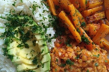 Vegane Curry-Linsen-Bowl 1