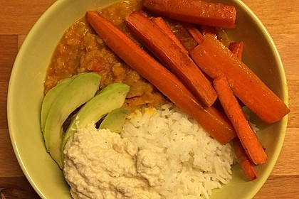 Vegane Curry-Linsen-Bowl 6