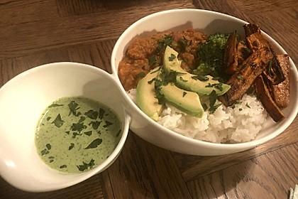 Vegane Curry-Linsen-Bowl 7