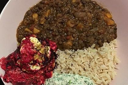 Vegane Curry-Linsen-Bowl 8