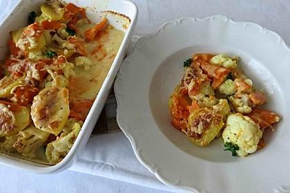 Blumenkohl-Süßkartoffel-Auflauf