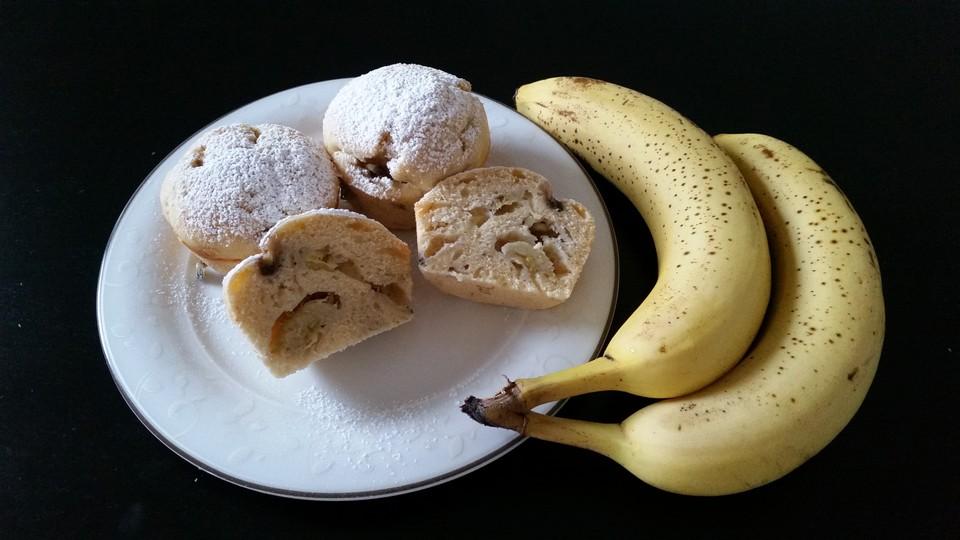 bananen muffins rezept mit bild von aschpazi. Black Bedroom Furniture Sets. Home Design Ideas
