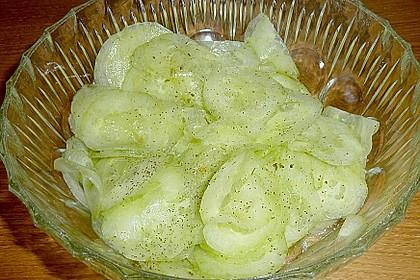 Gurkensalat mit Essig und Öl 46