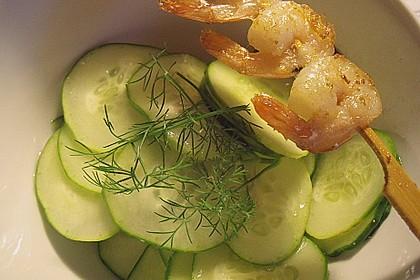 Gurkensalat mit Essig und Öl 42