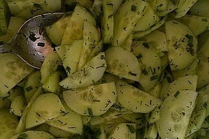 Gurkensalat mit Essig und Öl 51