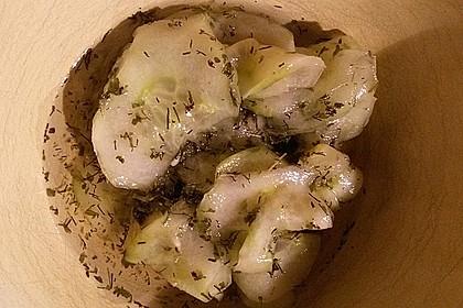 Gurkensalat mit Essig und Öl 53