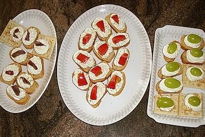Bruschetta mit Frischkäse