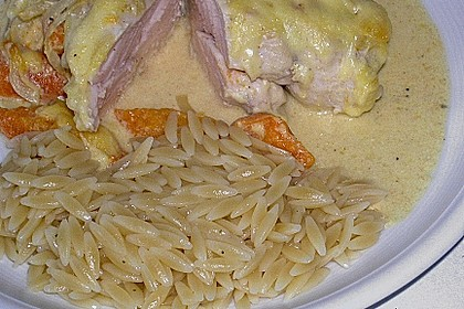Aprikosen - Curry - Hähnchen 1