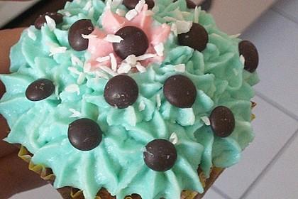 Schoko-Kokos Cupcakes mit Frischkäsetopping 1
