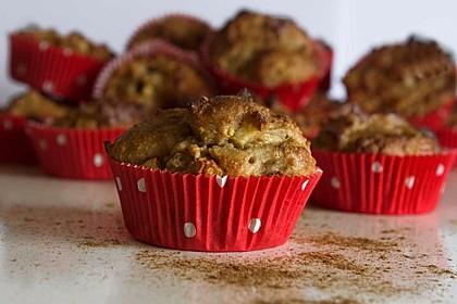 Apfel-Bananen-Muffins, Low Carb und vegan