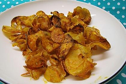 Kartoffelspiralen am Spieß (Bild)