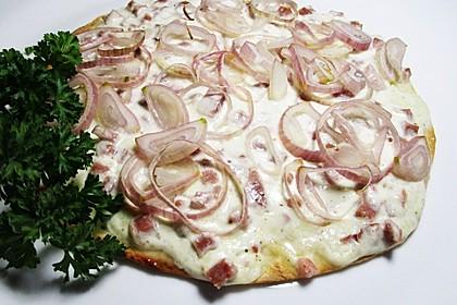 Saftiger Flammkuchen mit Tortilla-Wrap 1