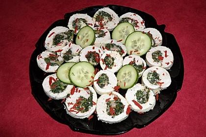 Hähnchen-Spinat-Rolle