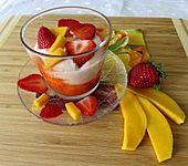 Erdbeer-Mango-Quarkdessert