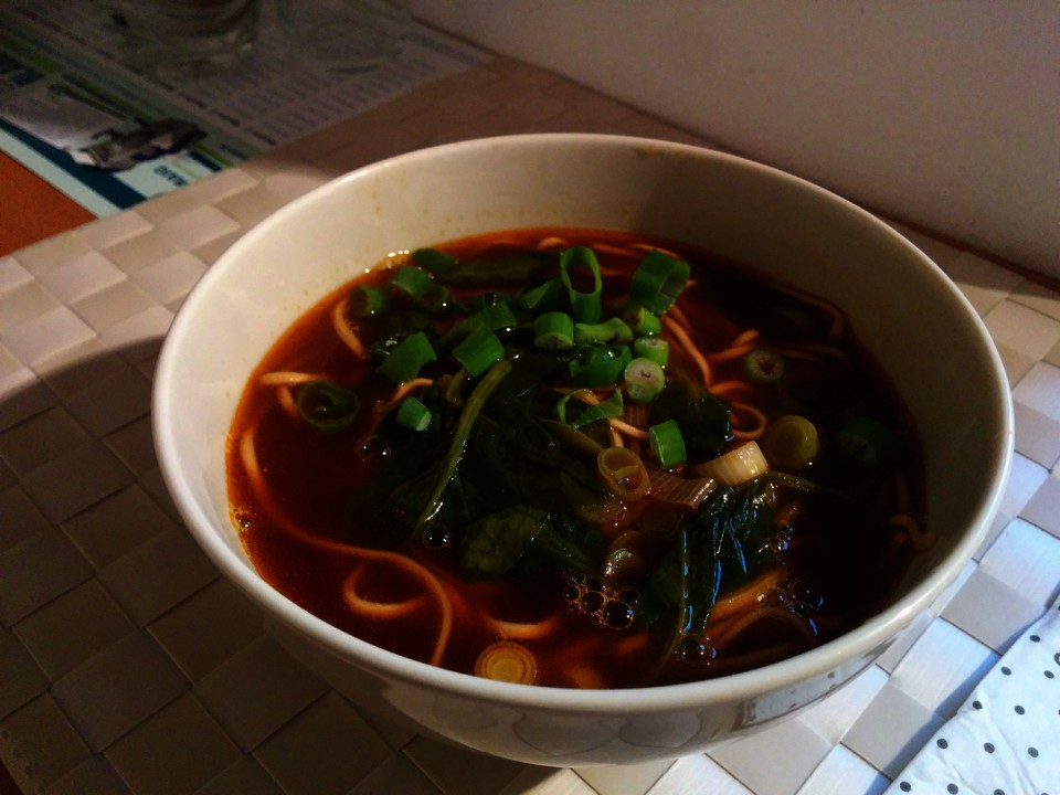 asia beef noodle soup rezept mit bild von kopetri. Black Bedroom Furniture Sets. Home Design Ideas