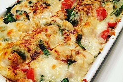 Thunfisch-Gnocchi-Auflauf mit Spinat