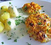 Kohlrabi ausgebacken mit Karotten-Käsekruste