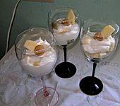 Apfel mit Zimtjoghurtsahne