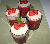 Erdbeeren mit weißer Schokoladenmousse
