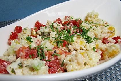 Couscous-Salat mit einer frischen Zitronen-Joghurt-Sauce 2
