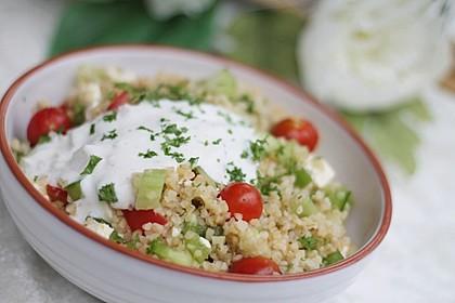 Couscous-Salat mit einer frischen Zitronen-Joghurt-Sauce 1