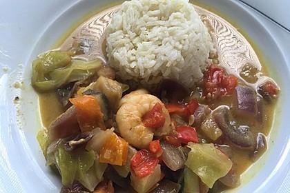 Alex' Garnelen-Curry à la Ratatouille